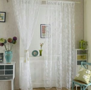 Other - One floral curtain